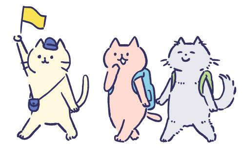 猫ちゃんの散歩
